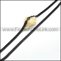 Black Plated Necklace  n000085