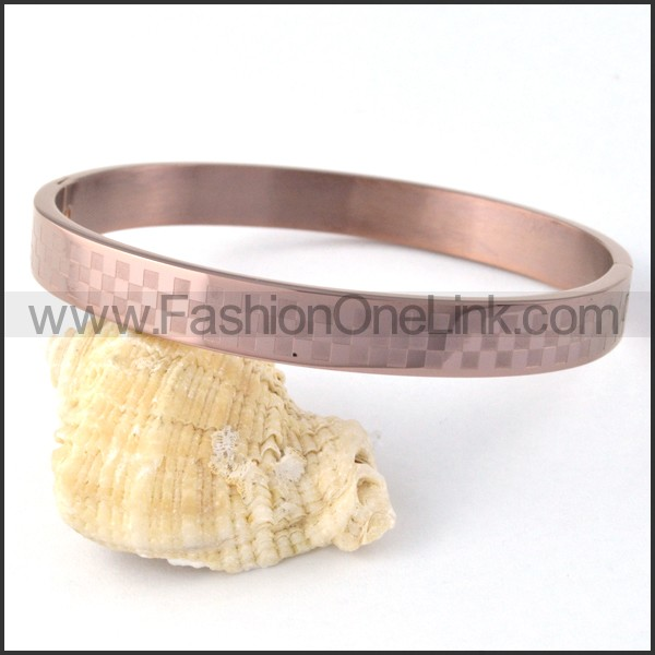 Rose Red Mosaic Couple Bangle b000401