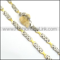 Two Tone Plated Necklace n000762
