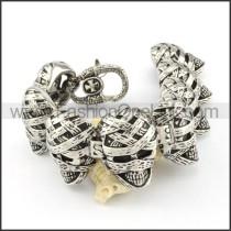 Bandage Skull Stainless Steel Bracelet b000693