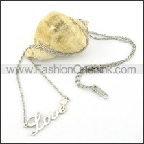 Silver LOVE Fashion Necklace  n000468