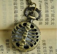 Vintage Brass Skeleton Cover cheap pocket watch PW000078