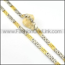 Two Tone Plated Necklace     n000180