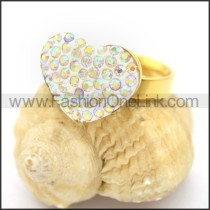 Exquisite Stone Stainless Steel Ring r002732