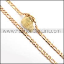 Delicate Rose Golden Plated Necklace n000690