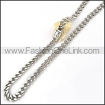 Silver Stamping Necklace   n000063