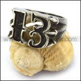 Black Stainless Steel Claw 13 Biker Ring r003667