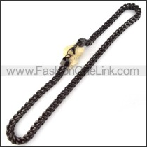 Black Stamping Necklace   n000065