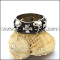 Vintage Stainless Steel Skull Ring  r003264