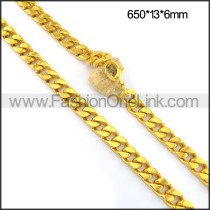 Elegant Interlocking Plated Necklace n001087