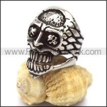 Delicate Stainless Steel Skull Ring   r001984