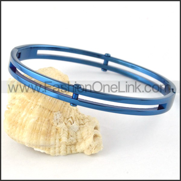 Elegant Blue Plated Couple Bangle b000396