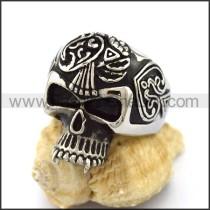 Delicate Stainless Steel Skull Ring  r003164