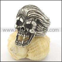 Stainless Steel Wicked Skull Ring r001200