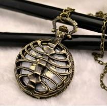 Vintage Skeleton Pocket Watch Chain PW000129