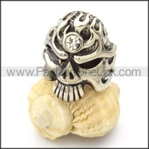 Stainless Steel Punk Style Skull Ring r000426