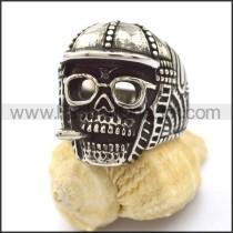 Delicate Stainless Steel Skull Ring r002241