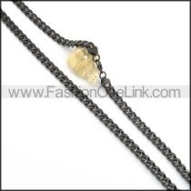 Elegant Black Plated Necklace  n000510