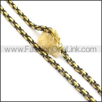 Succinct Two Tone Plated Necklace n000719