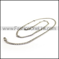 Silver Plated Necklace    n000221
