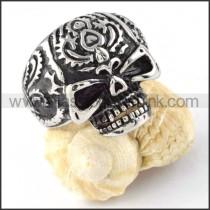 Stainless Steel Demon Skull Ring r000298