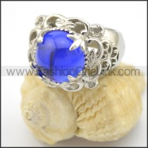 Exquisite Prong Setting Blue Stone Ring r001712