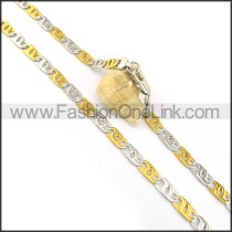 Delicate Two Tone Plated Necklace n000607