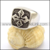 Delicate Stainless Steel Cross Ring  r001816