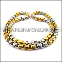 Two Tone Plated Necklace n001118
