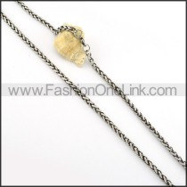 Exquisite Silver Stamping Necklace      n000249