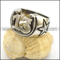 Stainless Steel Biker Ring r002718