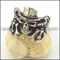 Vintage Stainless Steel Ring r001370