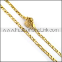 Interlocking Chain Plated Necklace n001077