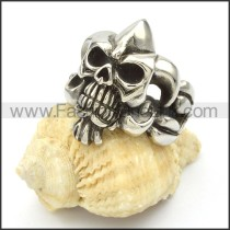 Stainless Steel Skull Ring  r000423