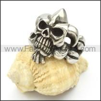 Stainless Steel Skull Ring  r000423
