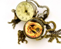Vintage Hunger Games Ball Pocket Watch Chain PW000090