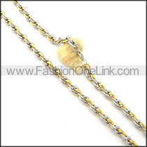 Two Tone Plated Necklace  n000359