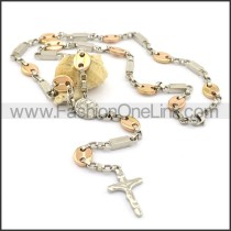 Delicate Cross Golden Plated Necklace n000806