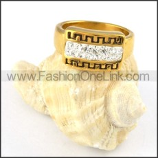 Stainless Steel Great Wall Ring r000253