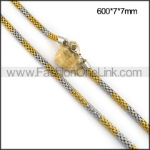 Two Tone Plated Necklace n001102