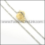 Delicate Interlocking Chain Stamping Necklace     n000285
