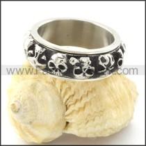 Stainless Steel Skull Wedding Ring   r001206
