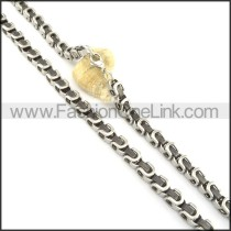 Chic Silver Plated Necklace n000584