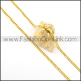 Delicate Golden Plated Necklace n000655