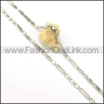 Succinct Silver Stamping Necklace    n000303