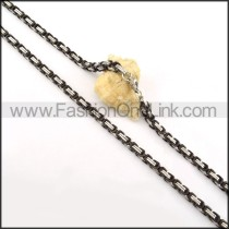 Unique Black and Silver Plated  Necklace   n000158