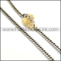 Elegant Stamping Necklace n000678
