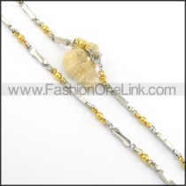 Golden and Silver Plated Necklace     n000540