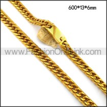 Gold Interlocking Necklace n001117