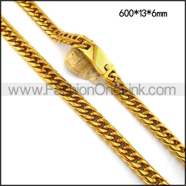 Gold Interlocking Necklace n001117
